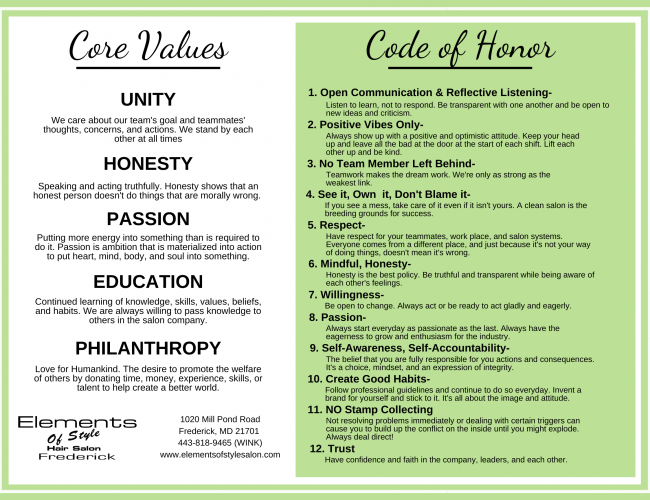 Frederick Code of Honor Poster