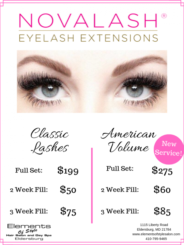 nova lash with volume added
