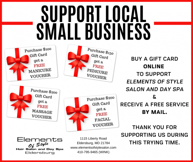support local small business CORONA