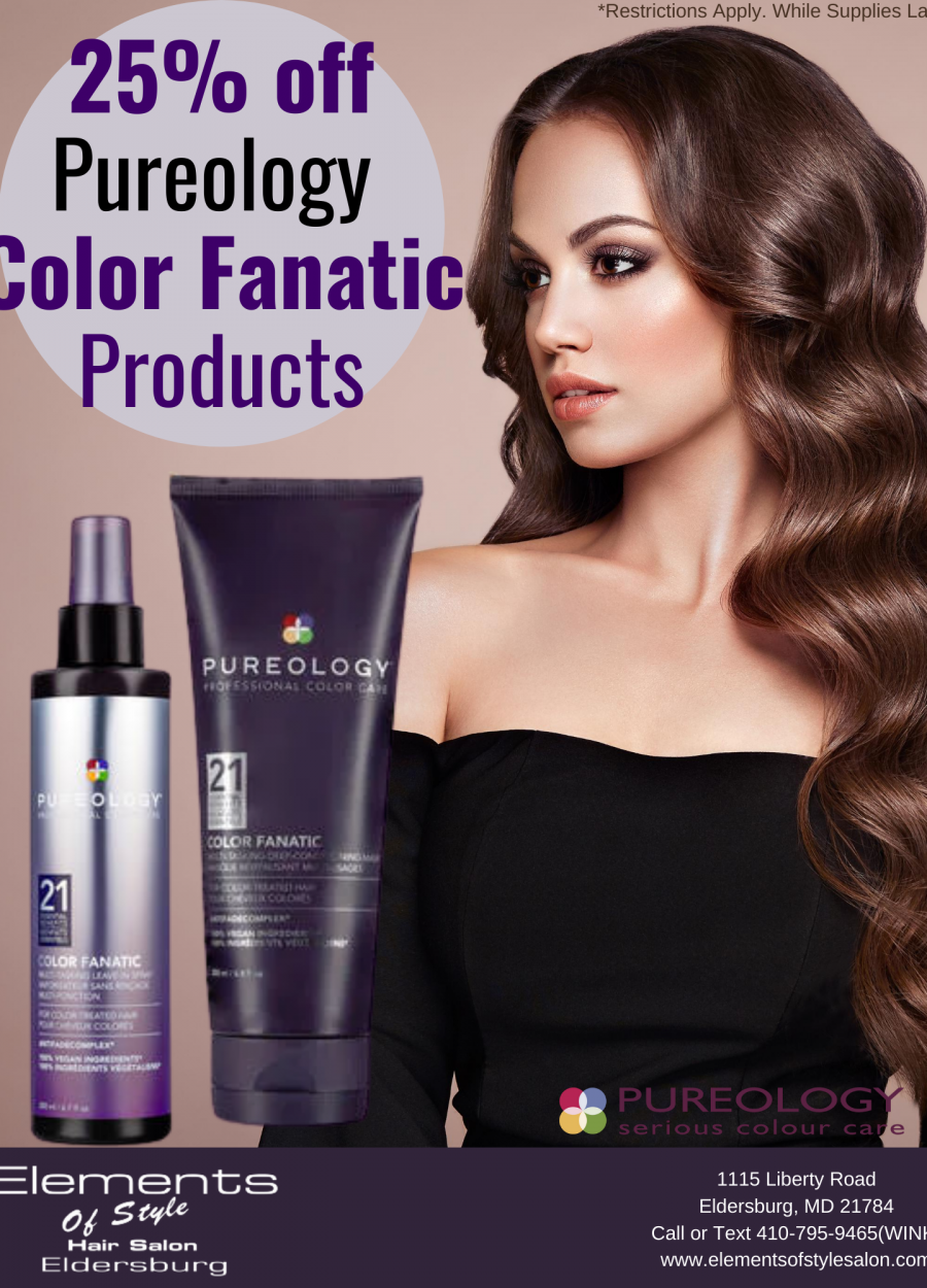 25% off Color Fanatic Products